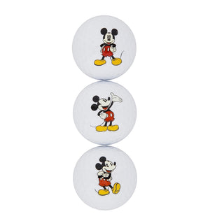 Disney Parks Mickey Golf Balls 3 Pack Set New with Box