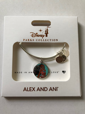 Disney Alex and Ani Parks Moana Bracelet Silver Finish New with Box