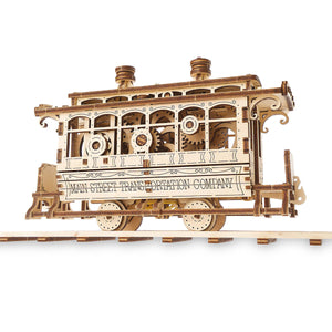 Disney Main Street U.S.A. Trolley Wooden Puzzle Working Mechanical Model New Box