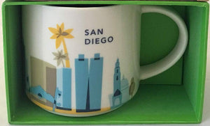 Starbucks You Are Here San Diego California Ceramic Coffee Mug New with Box