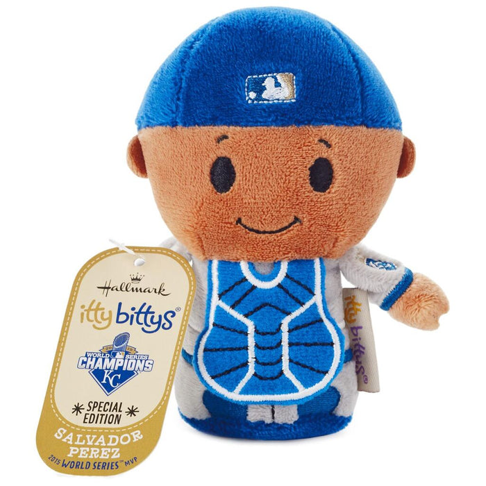Hallmark MLB Kansas City Royals Salvador Perez Itty Bittys Plush New with Tag