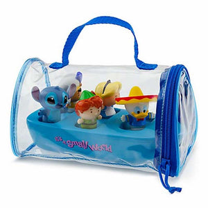 Disney Parks It's a Small World Bathtub Bath Boat Toy Set New with Case