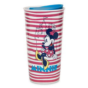 Disney Parks Minnie Mouse Ceramic Coffee Travel Tumbler New