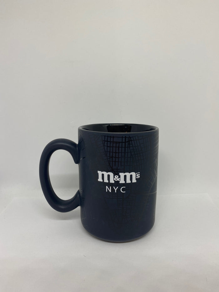 M&M's World New York City Black Map Ceramic Coffee Mug New