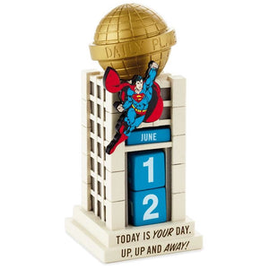 Hallmark Superman Today is Your Day Daily Planet Perpetual Calendar New