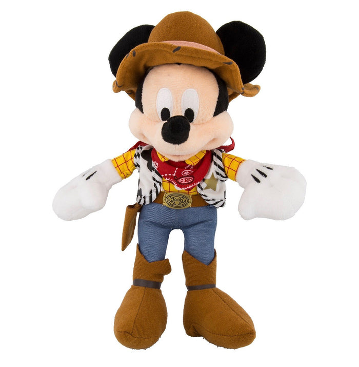 "disney parks toy story 12"" mickey mouse as sheriff woody plush toy new with tag"