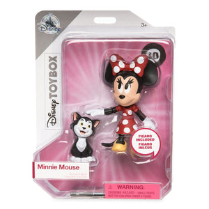 Disney Store Minnie Mouse and Figaro Action Figure Set Toybox New with Box