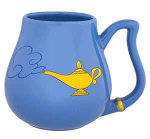 Disney Parks Aladdin Genie Face Ceramic Coffee Mug New