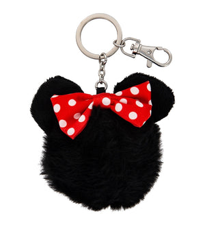 Disney Parks Minnie Pom Pom Plush Keychain New with Tags
