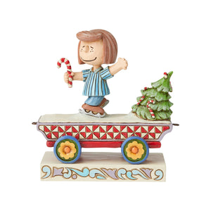 Jim Shore Peanuts Peppermint Patty Train Car Christmas Figurine New with Box