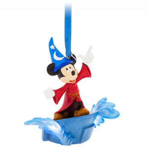 Disney Parks Fantasia Sorcerer Mickey Light Up Christmas Ornament New with Tag