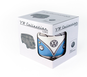 VW Volkswagen Collection T1 Blue Bus Coffee Mug by Brisa New with Box