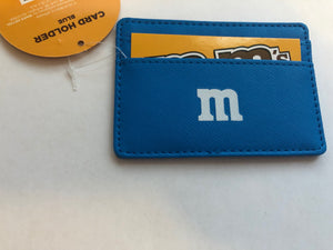 M&M's World Blue Character Small Card Holder New with Tags