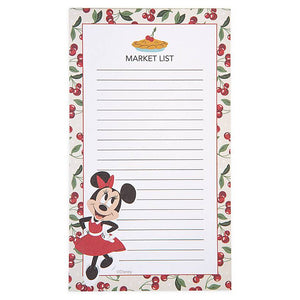Disney Parks Back in the Day Minnie Mouse Retro Magnetic Notepad New
