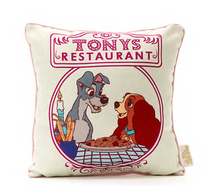 Disney Store Paris Lady and the Tramp Tony Restaurant Pillow New with Tag