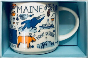 Starbucks Been There Series Collection Maine Coffee Mug New With Box