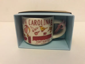 Starbucks Coffee Been There South Carolina Ceramic Mug Ornament New with Box