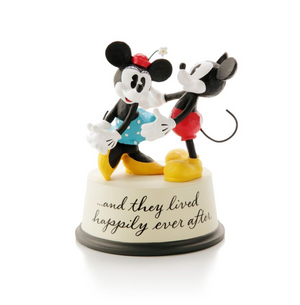 Hallmark Disney Mickey Minnie And They Lived Happily Ever After Figurine New