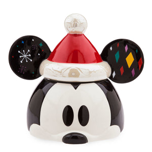 Disney Store Mickey Mouse Holiday Cookie Jar Christmas Share the Magic New