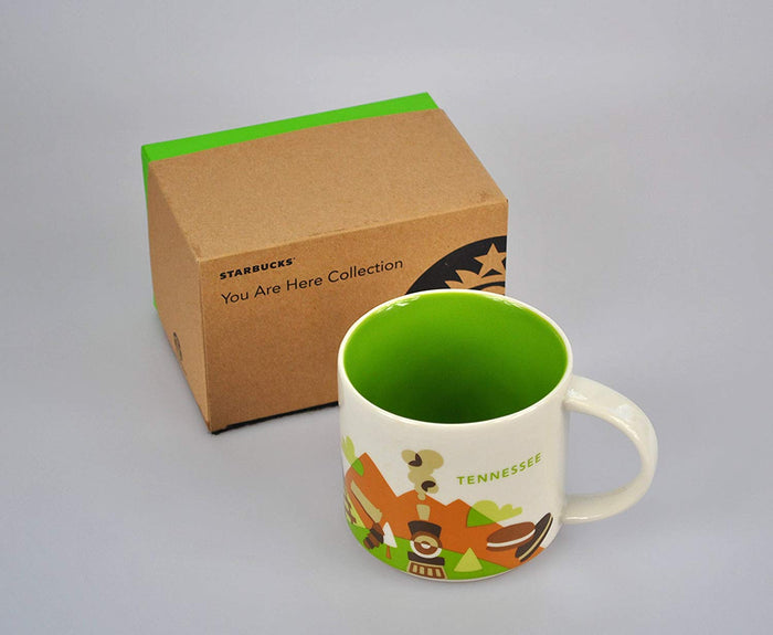 Starbucks You Are Here Tennessee Ceramic Coffee Mug New With Box