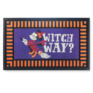 Disney Parks Minnie Mouse As Witch Halloween Door Mat New