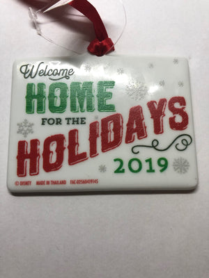 Disney Parks Welcome Home For the Holiday 2019 Christmas Ornament New With Tags