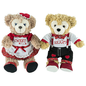 Disney Parks Valentine's Day Duffy Bear And ShellieMay Plush Set New with Tags