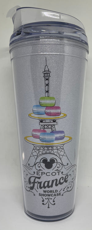 Disney Parks Epcot France Mickey Icon Macaroons Tumbler with Lid New