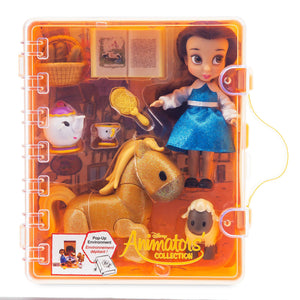 Disney Animators' Collection Belle Beauty and the Beast Mini Doll Play Set New