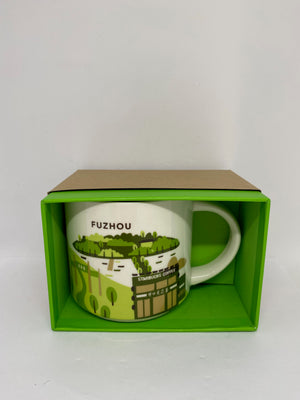 Starbucks You Are Here Collection Fuzhou China Ceramic Coffee Mug New with Box