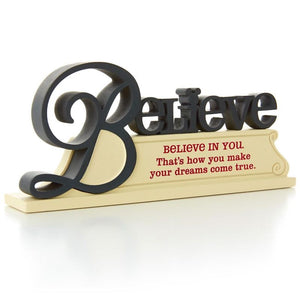 Disney Hallmark Believe Resin Cutout Art New