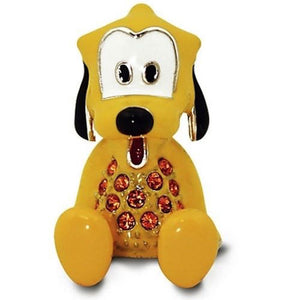 Disney Parks Pluto Figurine by Arribas Swarovski Jeweled Mini New with Box