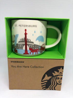 Starbucks You Are Here Collection St. Petersburg Ceramic Coffee Mug New with Box