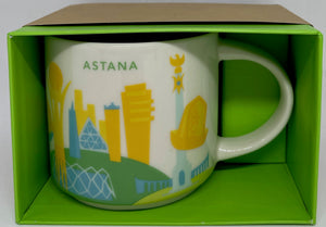 Starbucks You Are Here Astana Kazakhstan Ceramic Coffee Mug New with Box