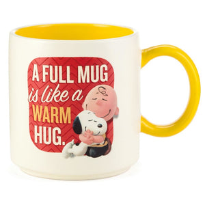 Hallmark Peanuts Snoopy Charlie Brown A Full Mug is Like a Warm Hug Mug New