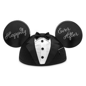 Disney Parks Mickey Mouse Groom Happily Ever After Ear Hat New with Tag