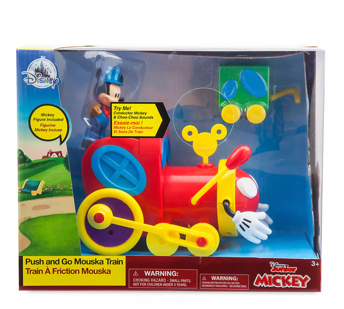 Disney Junior Mickey Push and Go Mouska Train Toy Set with Sound New with Box