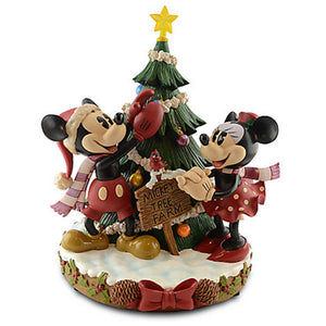 disney parks christmas mickey's tree farm medium statue noble new with box
