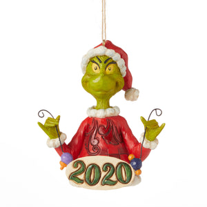 Jim Shore Grinch 2020 Dated Christmas Ornament New with Box