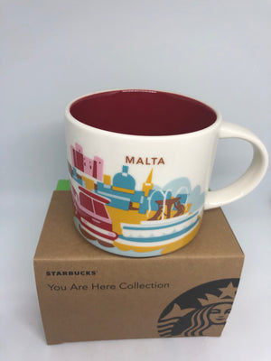 Starbucks You Are Here Collection Malta Ceramic Coffee Mug New with Box