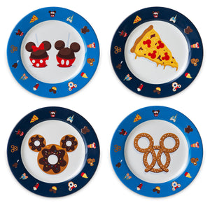 Disney Parks Food Icons Mickey and Friends Plate Set New with Box