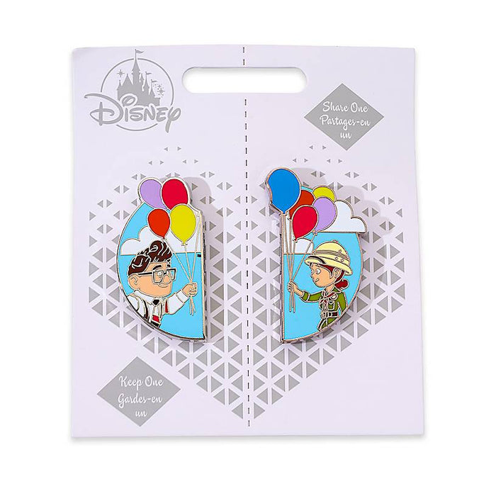 Disney UP Carl and Ellie Couples Pin Set Keep One Share One New with Card