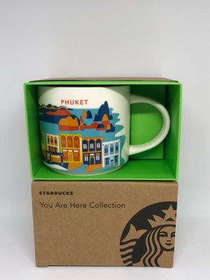 Starbucks Coffee You Are Here Thailand Phuket Ceramic Coffee Mug New with Box
