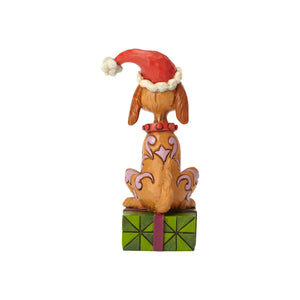 Jim Shore Grinch Max with Santa Hat Resin Figurine New with Box