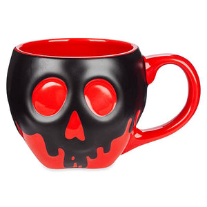 Disney Store Snow White Poisoned Apple Heat Reactive Black Mug New