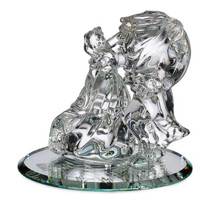 Disney Parks Beauty the Beast Glass Figurine by Arribas Brothers New with Box