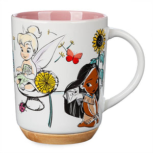 Disney Animator's Tinker Bell Aurora Pocahontas Moana as Youngsters Mug New