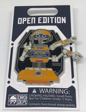 Disney Parks Star Wars Galaxy Edge Droid Depot RX Pivot Pin New with Card