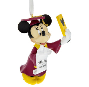 Disney Parks Minnie Mouse Selfie Graduation Christmas Ornament New with Tags
