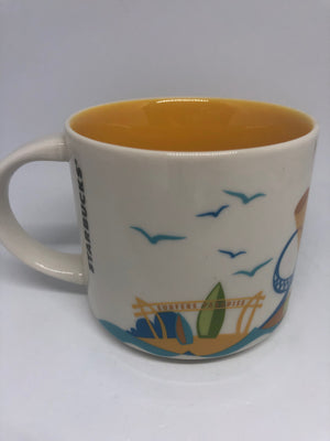 Starbucks You Are Here Australia Gold Coast Ceramic Coffee Mug New Box
